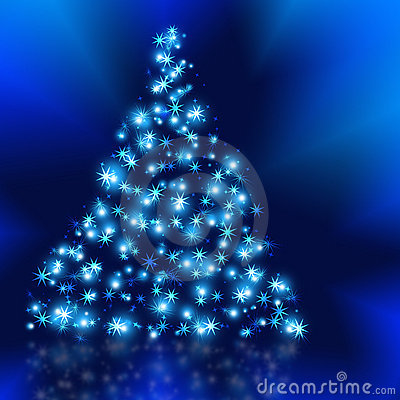 The Best Christmas Tree Background With Reflection Royalty Free