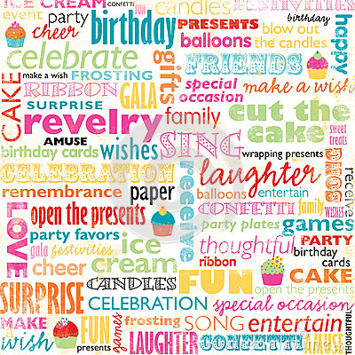 Birthday Cake Wallpaper 3d Download Birthday Word Collage Royalty Free Stock Image Image