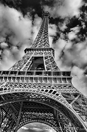 Black And White Geometric Wallpaper Black And White Picture Of The Eiffel Tower Stock Photos