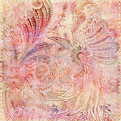 Bohemia Wallpaper 3d Bohemian Gypsy Pink Floral Background Stock Photography
