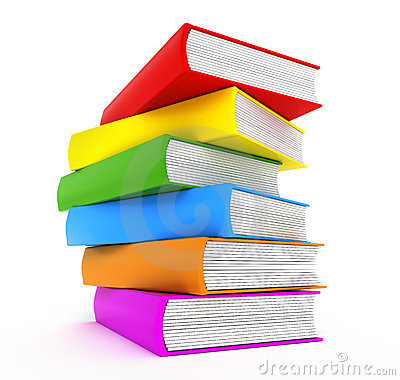 3d Colourful Wallpaper Books Rainbow Over White Stock Images Image 14876024