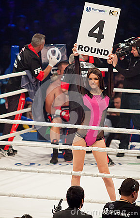 Girls Wallpaper Themes Boxing Ring Girls Holding A Board With Round Number