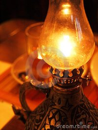 Burning Oil Lamp Stock Photo - Image: 23374600