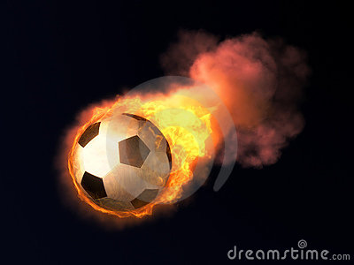 3d Laser Wallpapers Burning Soccer Ball Royalty Free Stock Image Image 3312366