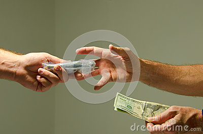 Buying Marijuana Drugs Illegal Sale For Cash Money Stock ...