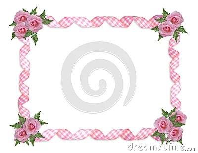 Cute Bordered Pastel Flower Wallpaper Cadre Rose De Roses Photographie Stock Image 13756242