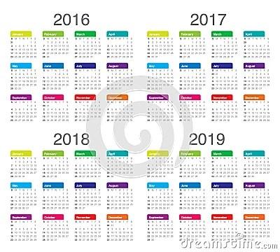 Calendario anual 2014 com feriados