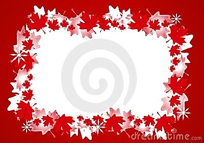 Fall Wallpaper Themes Canadian Maple Leaf Christmas Border Frame Royalty Free