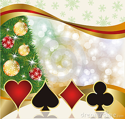 3d Animation Wallpaper Download Christmas Poker Casino Card Stock Photography Image