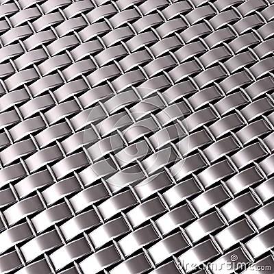 3d Metallic Wallpaper Chrome Silver Woven Metallic Pattern Stock Photo Image
