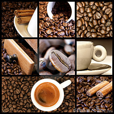 3d Wallpaper For Kitchen Coffee Collage Stock Photo Image 13379150