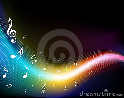 3d Rainbow Wallpaper Download Colorful Music Notes Royalty Free Stock Photo Image