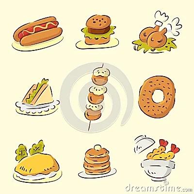 Cute Chinese Cartoon Wallpaper Cute Cartoon Food Royalty Free Stock Photos Image 16793598