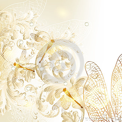 Cute Butterflies Hd Wallpapers Elegant Wedding Floral Background With Ornament And