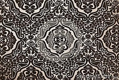 Koi 3d Wallpaper Dark Brown Flock Wallpaper Pattern Stock Photography