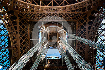 Audio Car Wallpaper Download Detail Of Inside The Center Of The Eiffel Tower Stock