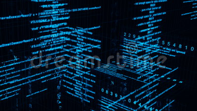 Crypto Wallpaper 3d Digital Data Matrix Stock Footage Video Of Business