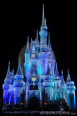 Glass Animals Wallpaper Disney Cinderella Castle At Night Editorial Stock Photo