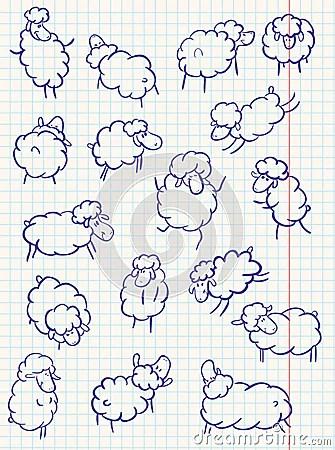Cute Watercolor Wallpaper Doodle Sheep Royalty Free Stock Photo Image 13451195