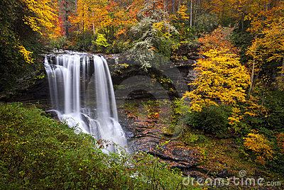 Fall Trees Wallpaper Dry Falls Autumn Waterfalls Highlands Nc Mountains Royalty