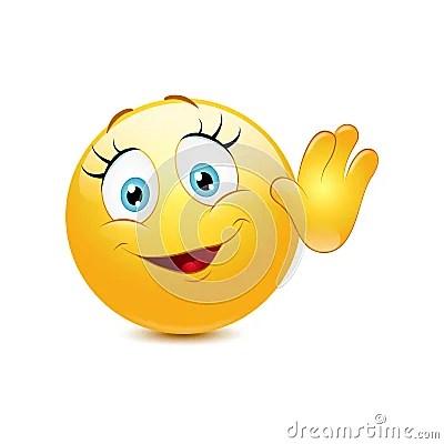 Wallpaper 3d Bergerak Free Download Female Smiley Waving Hello Stock Vector Image 40231540