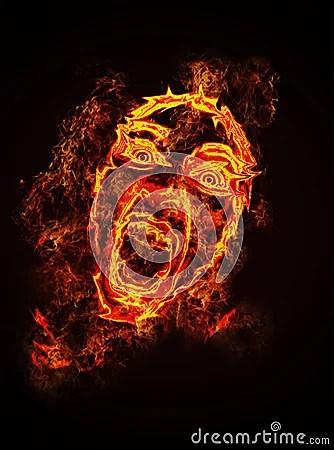 Abstract Girl Face Wallpaper Fire Face Stock Photos Image 23823103