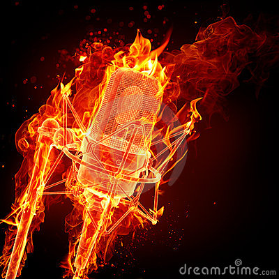 Dance Wallpaper 3d Fire Microphone Royalty Free Stock Images Image 15863049