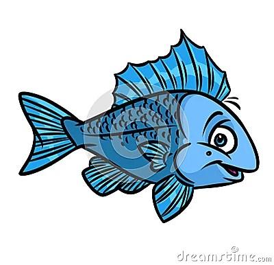 Cute Styles Girl Wallpaper Fish Blue Cartoon Stock Illustration Image 70005421