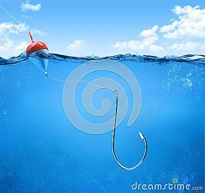 Good Night Wallpaper 3d Download Fishing Hook Underwater Royalty Free Stock Images Image