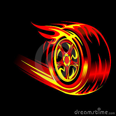 3d Car And Bike Wallpaper Download Flaming Wheel Stock Photography Image 8141432