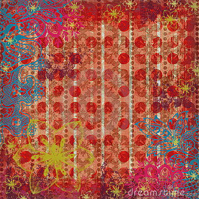 3d Animation Wallpaper For Pc Download Floral Gypsy Beachy Scrapbook Background Stock Image