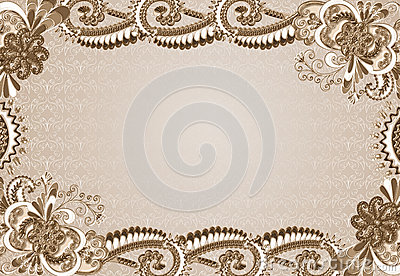 Frame with an embossed pattern in the rococo style stock