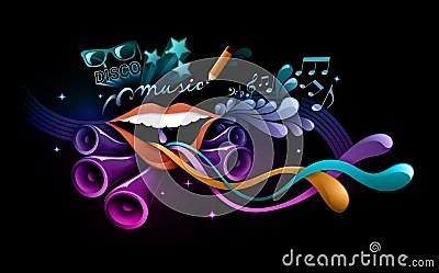 Wallpaper Full Hd 1080p 3d Funky Music Illustration Stock Photo Image 15953880