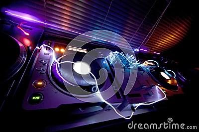 Aj 3d Wallpaper Glowing Dj Equipment Stock Photo Image 22268310