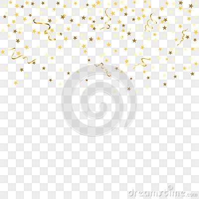 3d Geometric Shapes Wallpaper White Gold Confetti Background Stock Vector Image 78448040