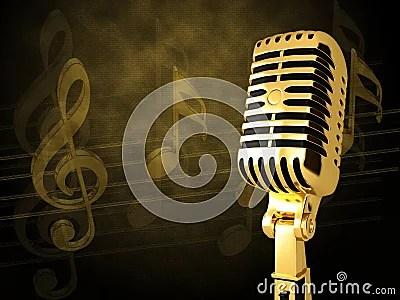Download Wallpaper Cartoon 3d Gold Vintage Microphone Stock Images Image 19214554
