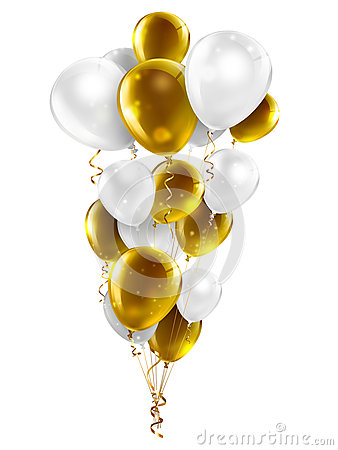 Only Black Wallpaper Gold And White Balloons Stock Illustration Image 43942582