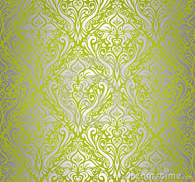 3d Animation Wallpaper Download Green Amp Silver Vintage Wallpaper Royalty Free Stock