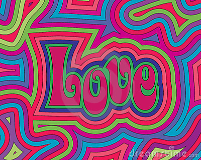 3d Love Heart Wallpaper Groovy Love Stock Photo Image 11970920