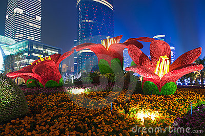 Christmas 3d Wallpaper Download Guangzhou Flower City Plaza Editorial Photo Image 16983901