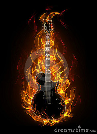 3d Angel Wallpaper Guitar In Fire Royalty Free Stock Photo Image 19321635