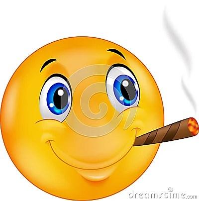3d Emoticons Wallpapers Happy Emoticon Smileyemoticon Smiley Smoking Cigar Stock