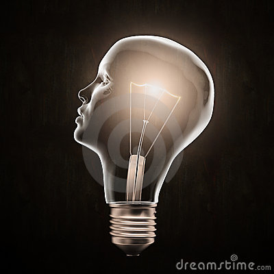 Question Mark Hd Wallpaper Head Shaped Light Bulb Stock Image Image 22488721