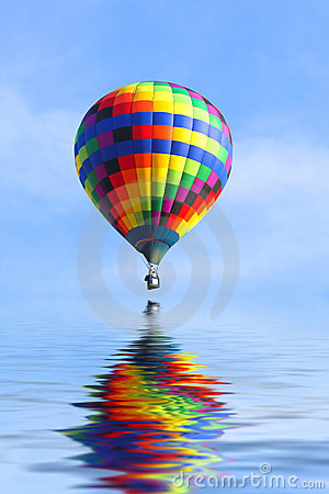 Thank You Wallpaper Animated Hot Air Balloon Over Water Royalty Free Stock Image