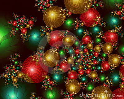 Christmas Tree Wallpaper 3d Infinite Christmas Balls Fractal Image Stock Images