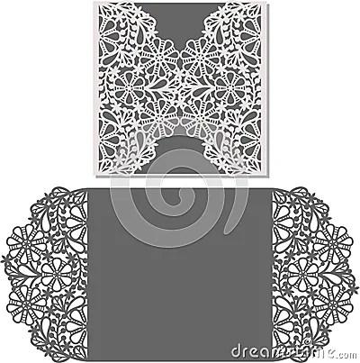 Laser Cut Envelope Template For Invitation Wedding Card Cartoon