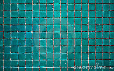 Fireplace 3d Wallpaper Light Turquoise Tile Royalty Free Stock Photography