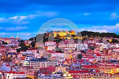 Lisbon Wallpaper Hd Lissabon Portugal Stock Afbeeldingen Afbeelding 21201124