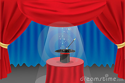 3d Wallpaper Cute Baby Magic Show On Stage Stock Photography Image 17573562