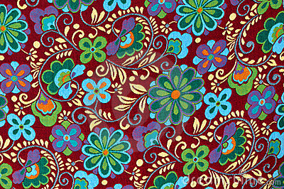 Bright Colors Wallpaper 3d Mayan Floral Pattern Background Royalty Free Stock Photo